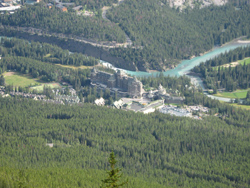 Fairmont Banff Springs Hotel from Gondola
