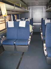 Coach Seats on Amtrak - big and comfy for daytime trips