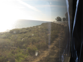 Coast Starlight and Pacific Ocean