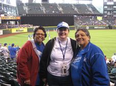 Olivia, Suzy & Vicky at SafeCo Field Mariners Game